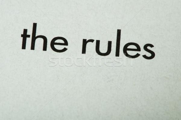Word The rules Stock photo © deyangeorgiev
