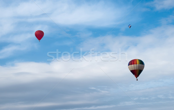 Multicolored Balloons in the blue sky Stock photo © deyangeorgiev