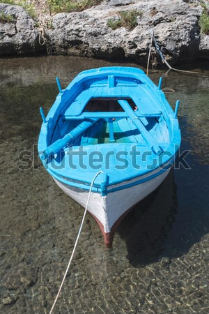 Foto stock: Barco · mediterráneo · mar · sol · luz · cielo