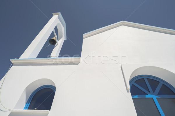 Típico griego iglesia blanco azul Grecia Foto stock © deyangeorgiev