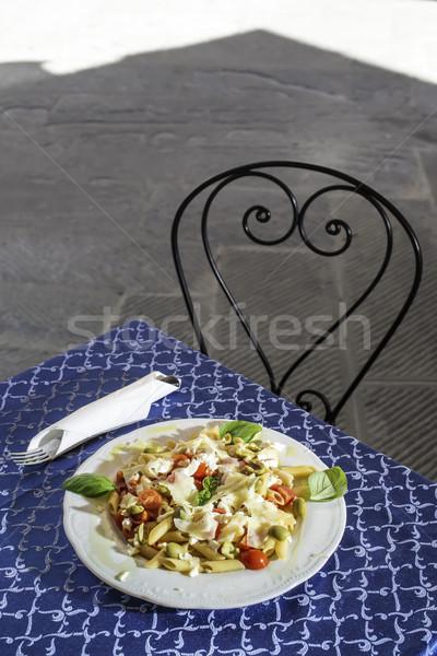Plate with italian pasta Stock photo © deyangeorgiev