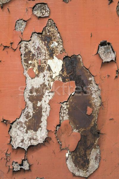Cracked paint on rusty iron Stock photo © deyangeorgiev