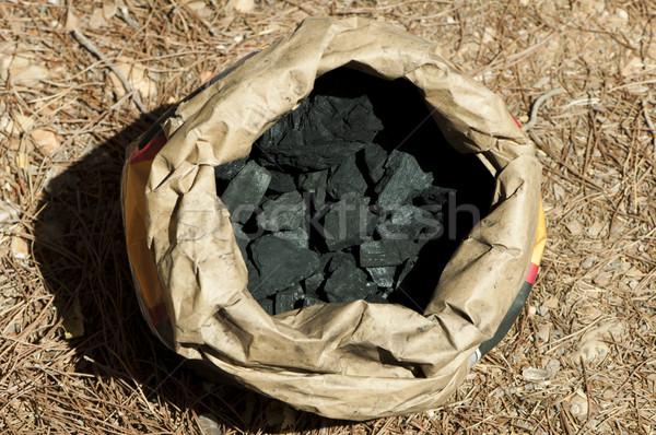 Natural charcoal in paper envelope Stock photo © deyangeorgiev