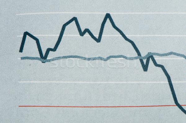 Economics graph Stock photo © deyangeorgiev