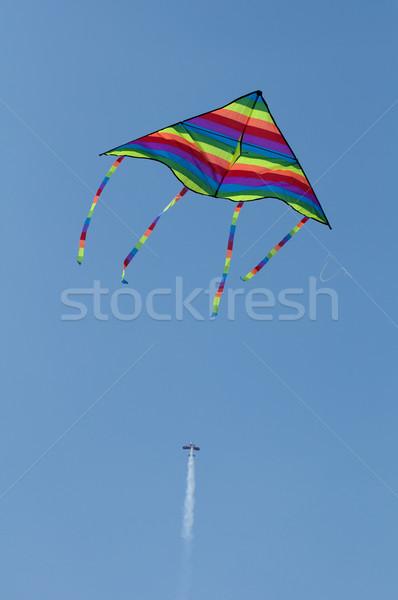 Kite and aircraft Stock photo © deyangeorgiev