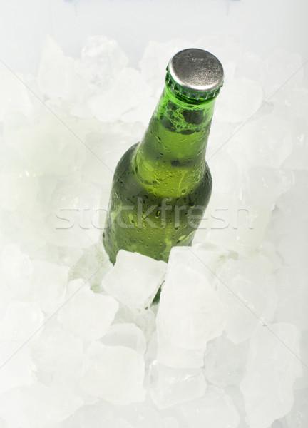 Verde garrafa cerveja gelo bar Foto stock © deyangeorgiev