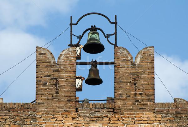 Ancient church tower and carillons Stock photo © deyangeorgiev