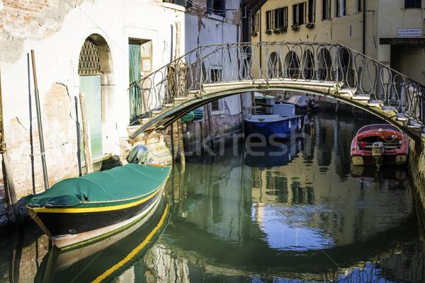 古代 建物 チャンネル ヴェネツィア ボート 家 ストックフォト © deyangeorgiev