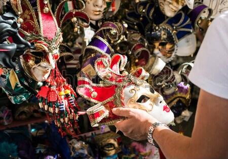 Veneziano carnevale maschere vendita mercato faccia Foto d'archivio © deyangeorgiev