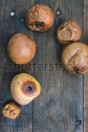 Rohadt almák fa nap fény étel Stock fotó © deyangeorgiev