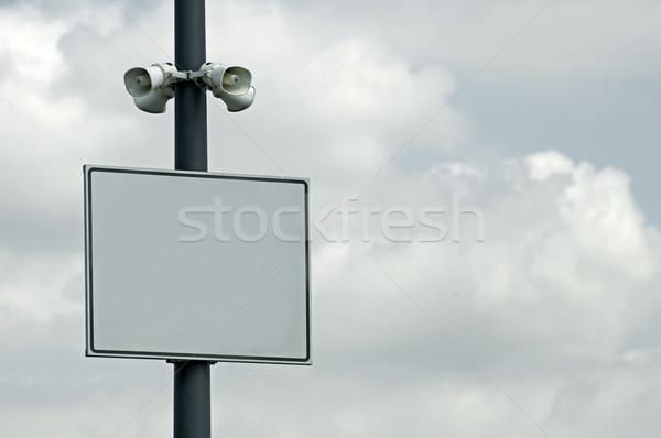 Speakers and plate Stock photo © deyangeorgiev