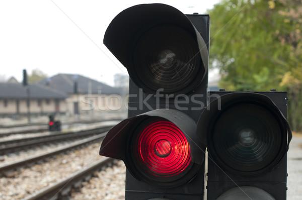 ストックフォト: 信号 · 赤 · 信号 · 鉄道 · 赤信号 · にログイン