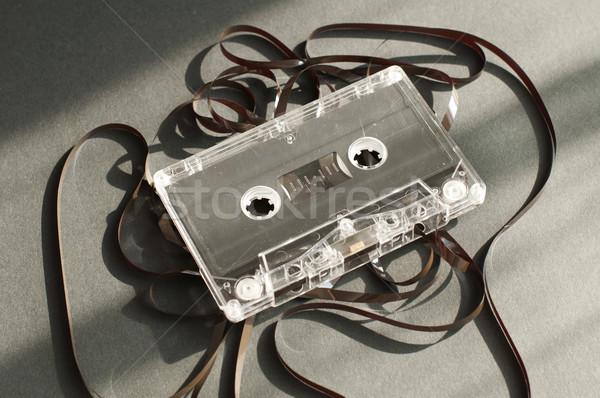 аудио лента кассету из старые сломанной Сток-фото © deyangeorgiev