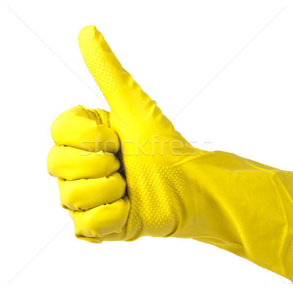 Household yellow gloves Stock photo © deyangeorgiev