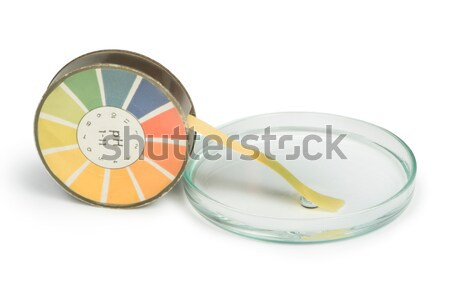 Litmus paper and beaker Stock photo © deyangeorgiev