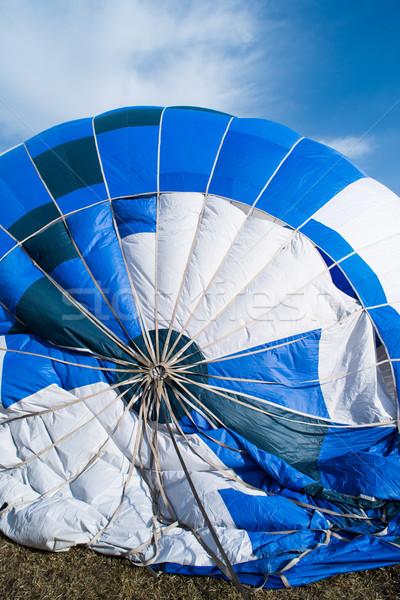 Blue Balloon in the blue sky Stock photo © deyangeorgiev