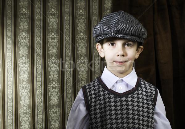 Criança vintage roupa tiro crianças Foto stock © deyangeorgiev