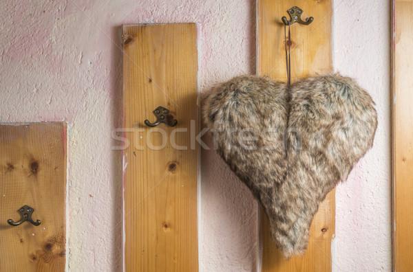 Сток-фото: сердце · кожа · моде · дизайна