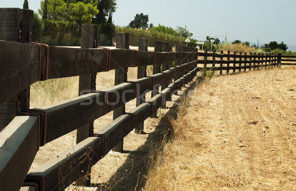 Wooden fence on ranch Stock photo © deyangeorgiev