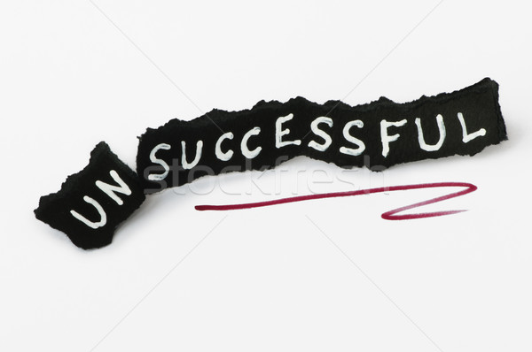 Succes tekst zwarte papier mislukte geslaagd Stockfoto © deyangeorgiev