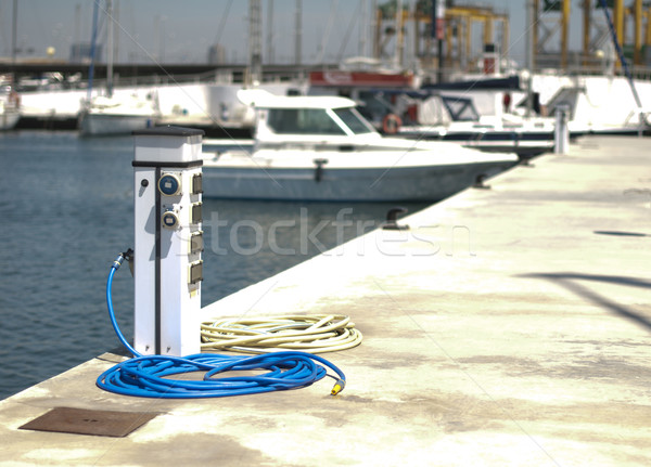 Power connector for yachts Stock photo © deyangeorgiev