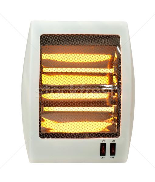 Electric heater white isolated Stock photo © deyangeorgiev