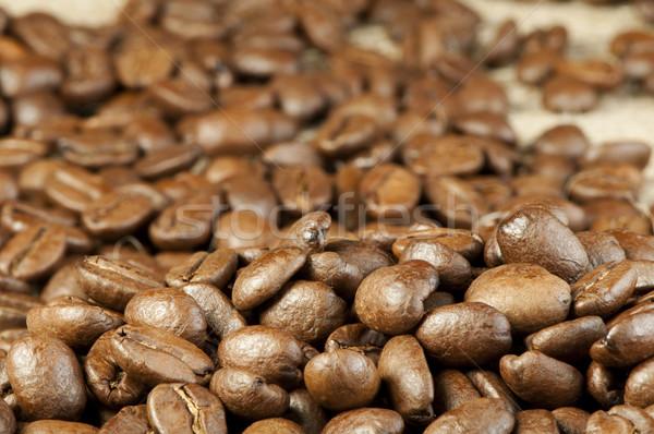 Kahve çekirdekleri gıda kahve doğa arka plan taze Stok fotoğraf © deyangeorgiev