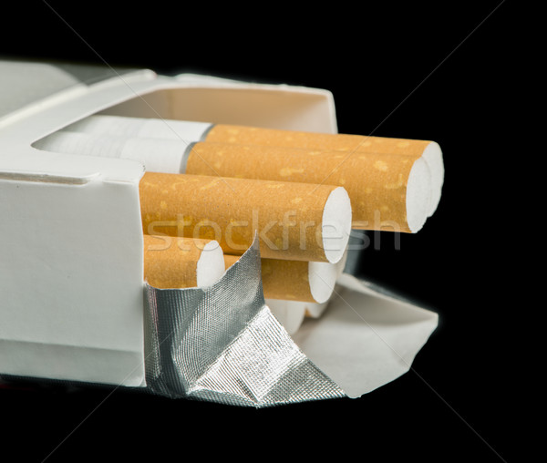 Box of cigarettes close up Stock photo © deyangeorgiev