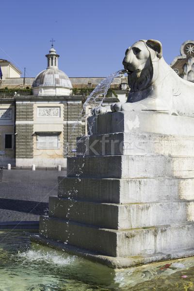 Stockfoto: Rome · water · gezicht · kunst · kerk · stedelijke