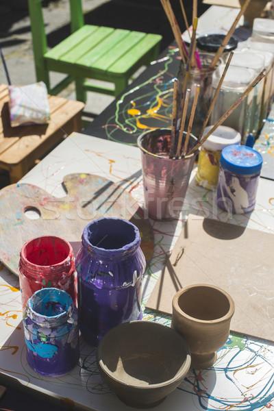 Paints and painting equipment Stock photo © deyangeorgiev