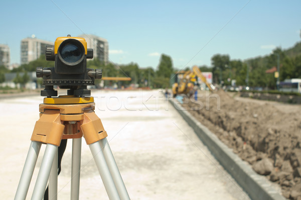 Surveying equipment to infrastructure construction project Stock photo © deyangeorgiev