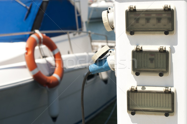 Power connector for yachts Stock photo © deyangeorgiev