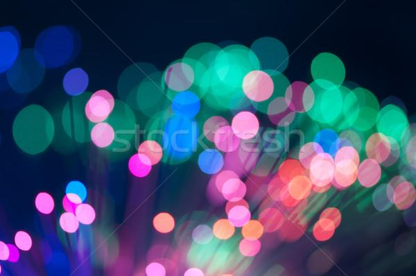 Luzes círculos natal azul rosa Foto stock © deyangeorgiev