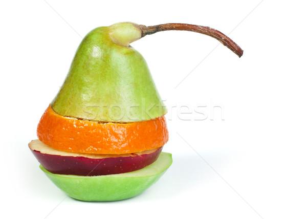 Foto d'archivio: Mista · frutta · pera · primavera · alimentare · mela