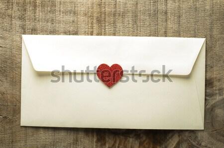 Red hearts and white envelope  Stock photo © deyangeorgiev