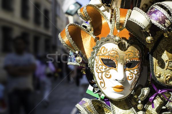 Velencei karnevál maszkok vásár piac arc Stock fotó © deyangeorgiev