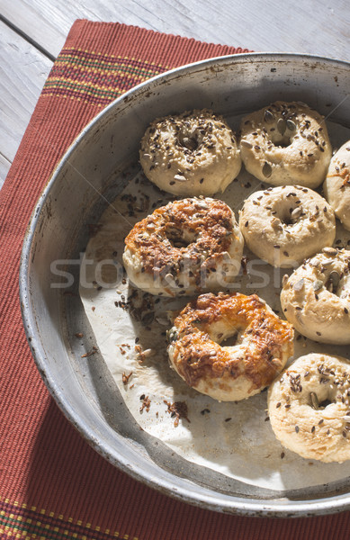 Bagels on a vintage table Stock photo © deyangeorgiev
