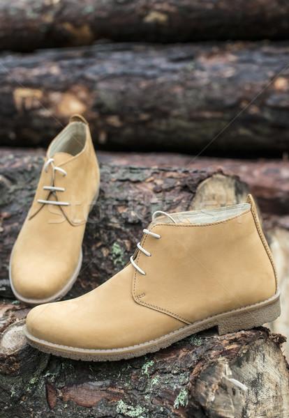 Mens leather casual shoes Stock photo © deyangeorgiev