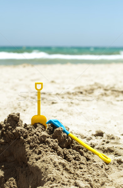 Toys in the sand Stock photo © deyangeorgiev