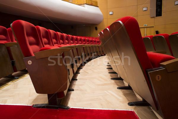 Théâtre opéra rouge film concert président Photo stock © deyangeorgiev