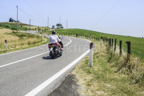 Yol İtalya şehir seyahat hızlandırmak Stok fotoğraf © deyangeorgiev