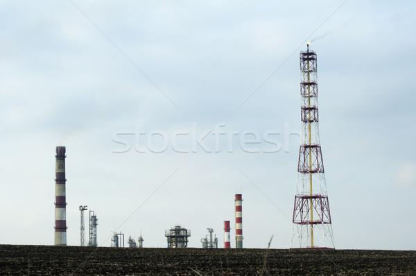 Olaj vegyi finomító gyártás kőolaj termékek Stock fotó © deyangeorgiev