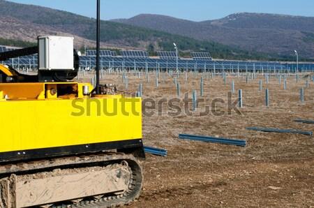 Solaire photovoltaïque industrielle installation affaires Photo stock © deyangeorgiev