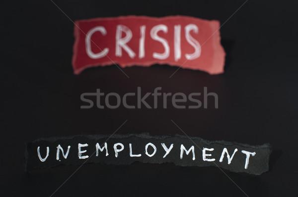 Crise branco texto vermelho dinheiro papel Foto stock © deyangeorgiev
