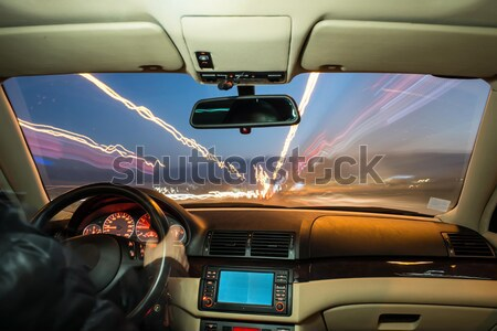 Car interior on driving. Stock photo © deyangeorgiev