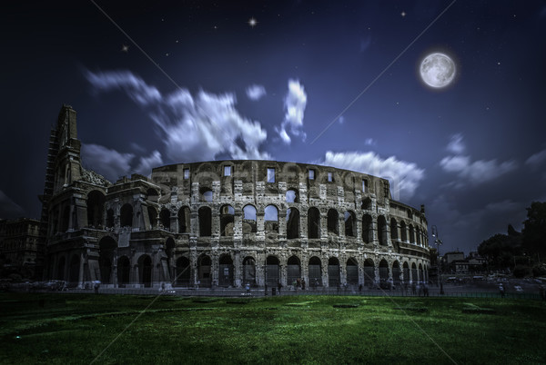 The Colosseum in Rome. Night view Stock photo © deyangeorgiev
