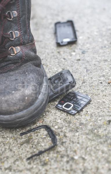 Old broken mobile phone Stock photo © deyangeorgiev