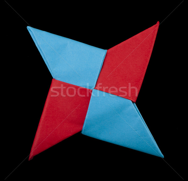 赤 青 色 装飾的な 忍者 ストックフォト © deyangeorgiev