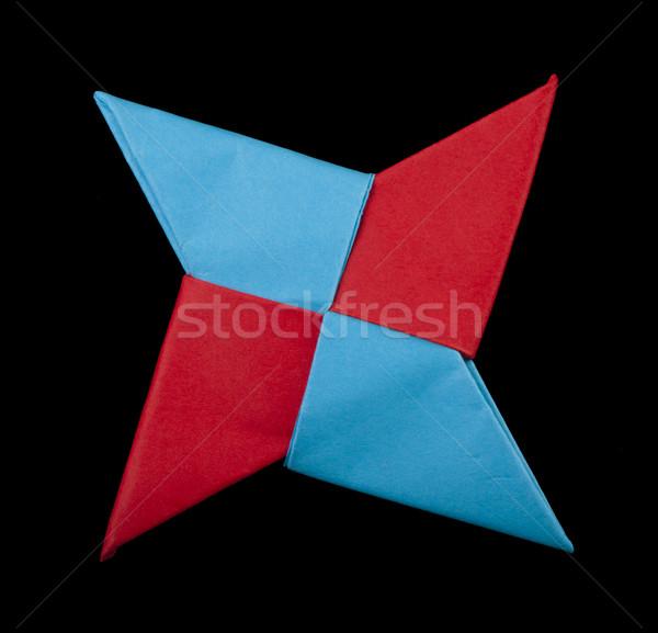 Foto stock: Vermelho · azul · cores · decorativo · elemento · ninja