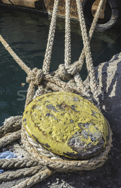 Веревки лодка воды синий судно Сток-фото © deyangeorgiev